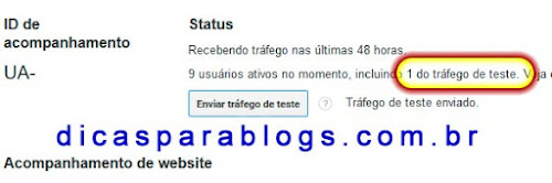 testar Google Analytics