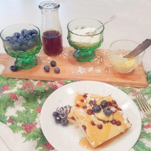 Keto Christmas Breakfast - Sheet Pan Pancakes
