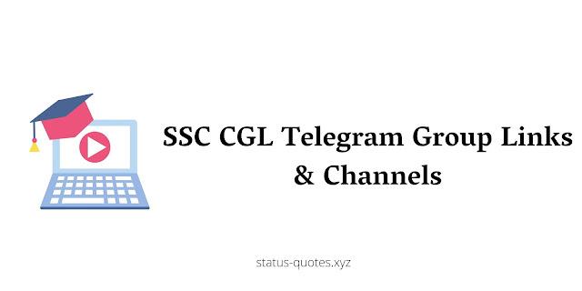 【BEST】SSC CGL Telegram Group Links & Channels