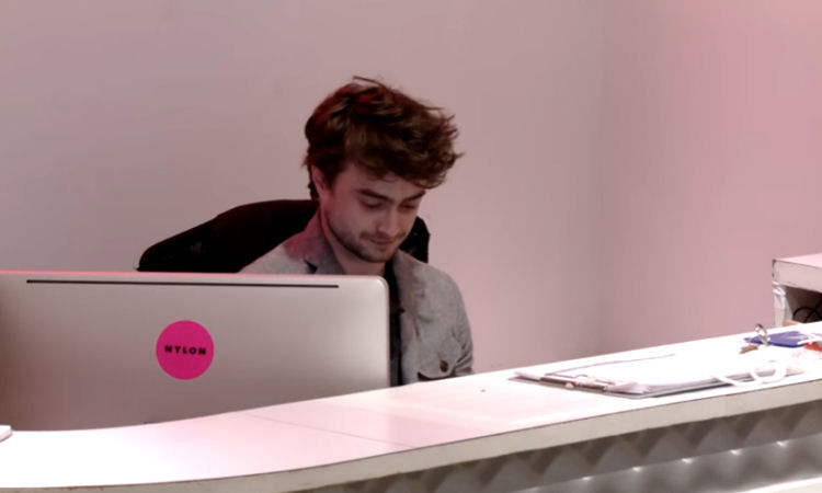 Daniel Radcliffe Pranks Nylon NYC Office
