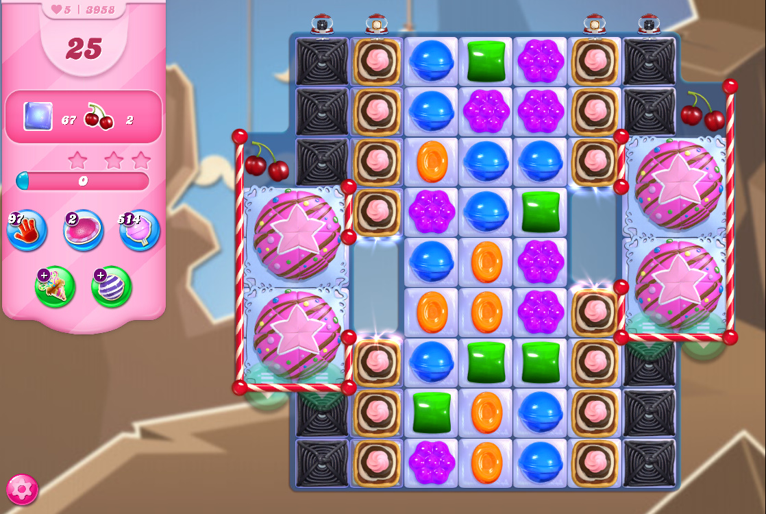 Candy Crush Saga level 3958