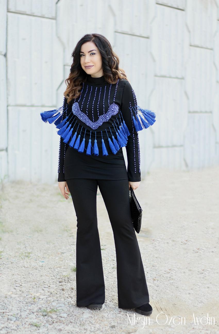 Püsküllü Elbise-alışveriş-moda blogu-Fashion blogger-Balmain