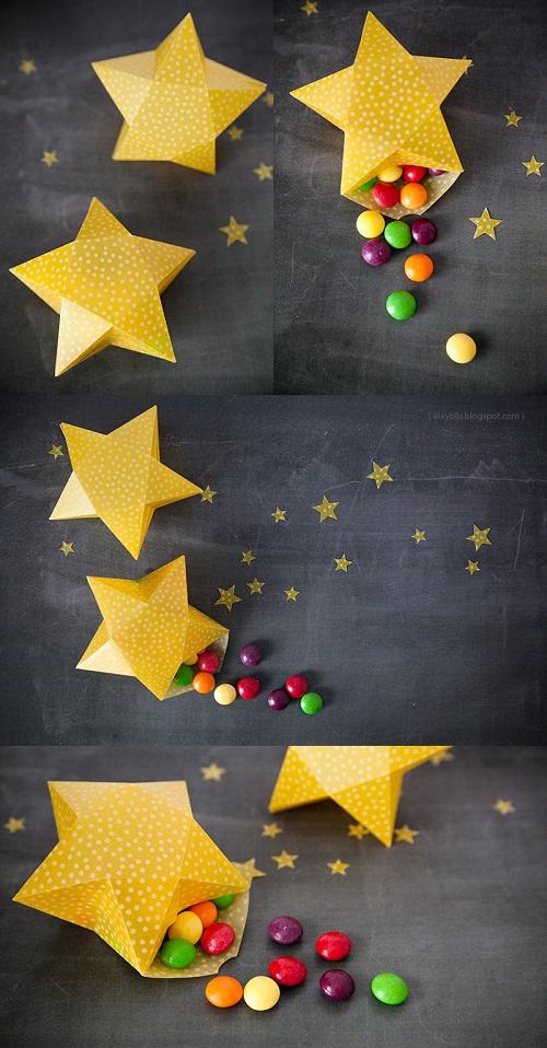 abbastanza Creare con la carta ♥: Scatoline a forma di stella fai da te WO44