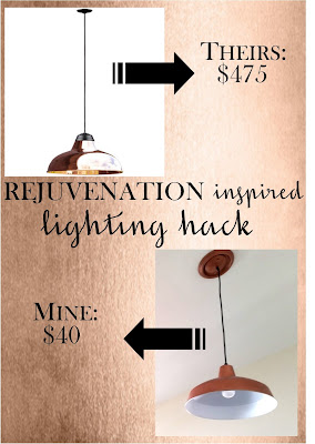 Add some bling to your kitchen with copper lighting - Pineridge Rejuvenation copper warehouse pendant light hack - for $400 less than retail - quick and easy DIY by Sew at Home Mummy