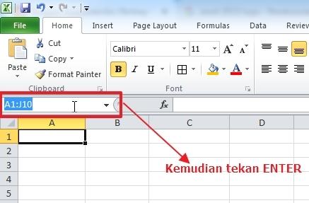 Mengenal Serta Memahami Pembagian Sel dan Range Microsoft Excel 2013