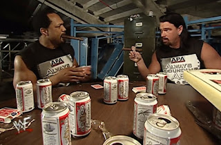 WWE / WWF Royal Rumble 2001 - Farooq and Bradshaw with their questionable t-shirts