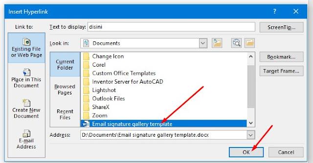 Cara Membuat Hyperlink ke file di komputer Anda dengan Word.