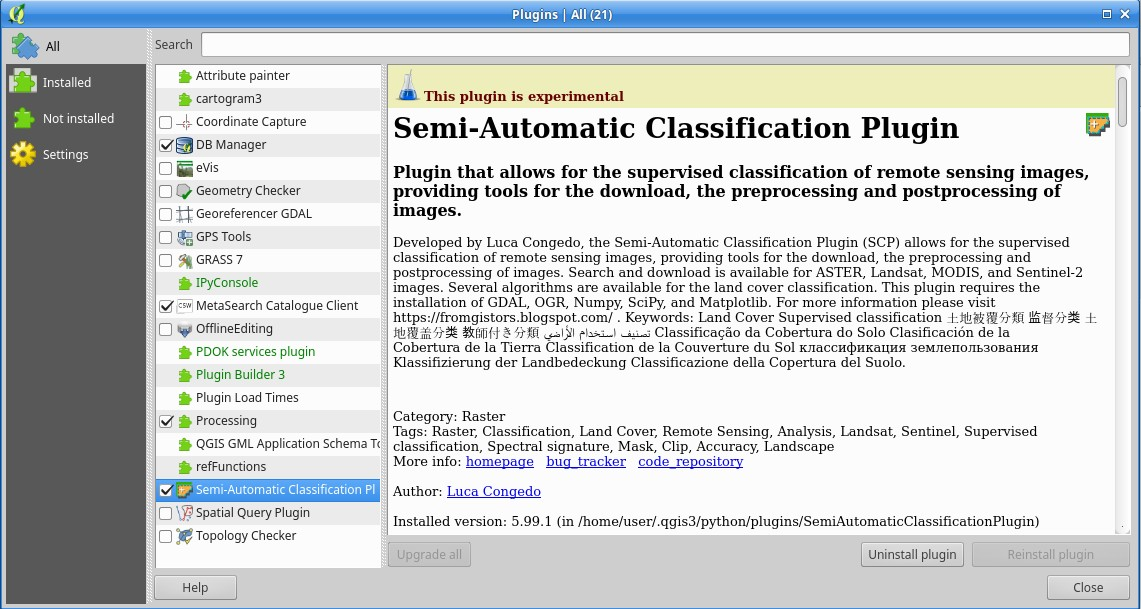 From GIS to Remote Sensing: Update: Semi-Automatic