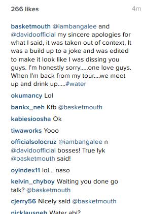 Baskey Mouth apologizes for joke