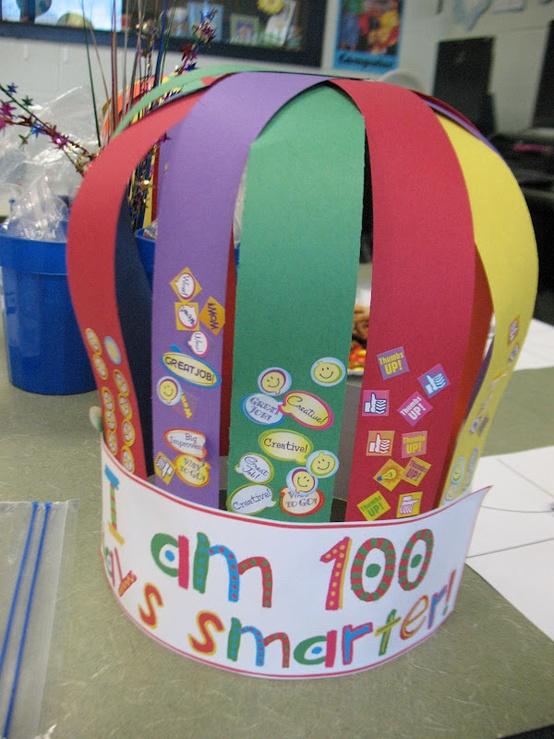 100th day of school crown template - 100th day of school linky party saddle up for second grade