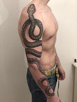 змея рукав тату