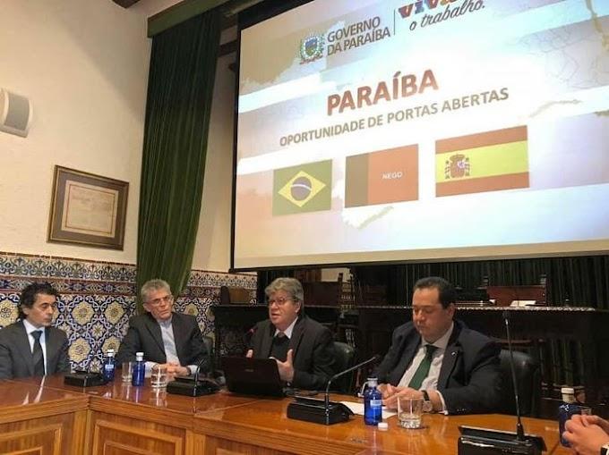 JOÃO AZEVEDO: Ministra palestra para empresários espanhóis e destaca potencialidades da Paraíba.