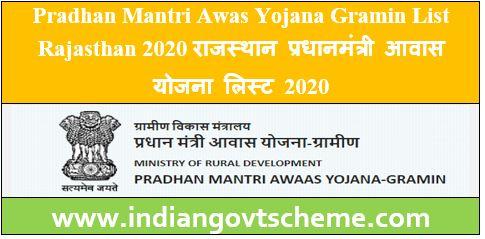 Awas Yojana Gramin List Rajasthan