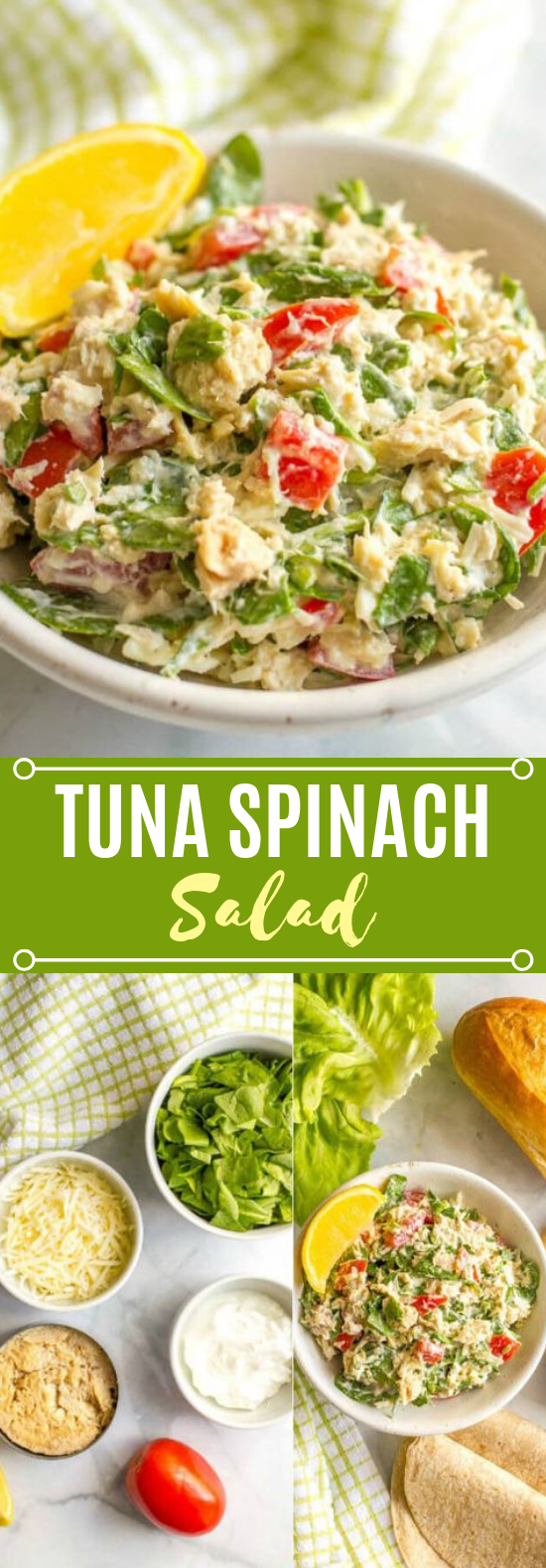 Tuna spinach salad #healthy #lowcarb