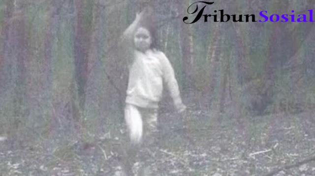 Warga Ketakutan Lihat Hantu Gadis Kecil Tertangkap Kamera di Hutan