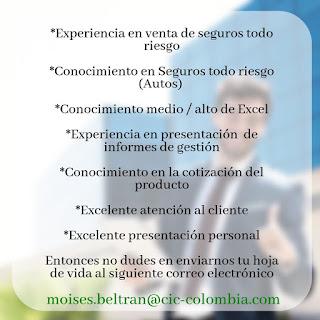 Empleo como Asesor Comercial en Bogota