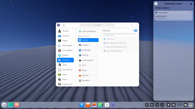 Tampilan Dektop Deepin 20