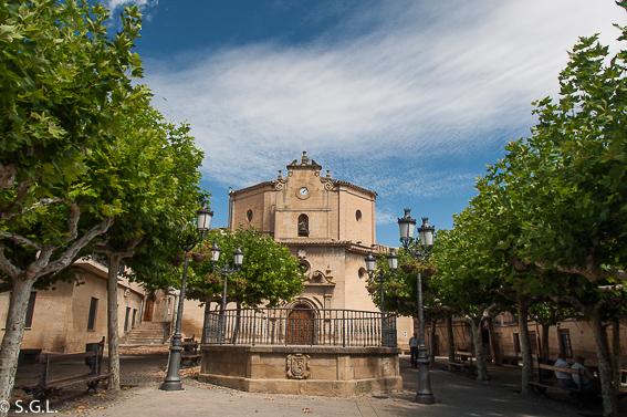 Ermita de la virgen de la plaza en Elciego. La Rioja alavesa.
