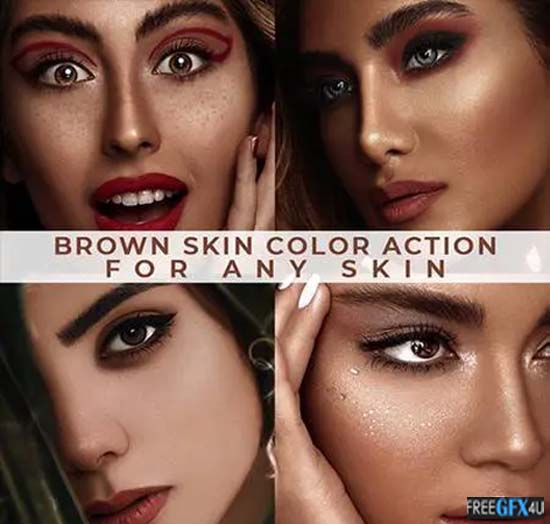 Brown Skin Color Actions