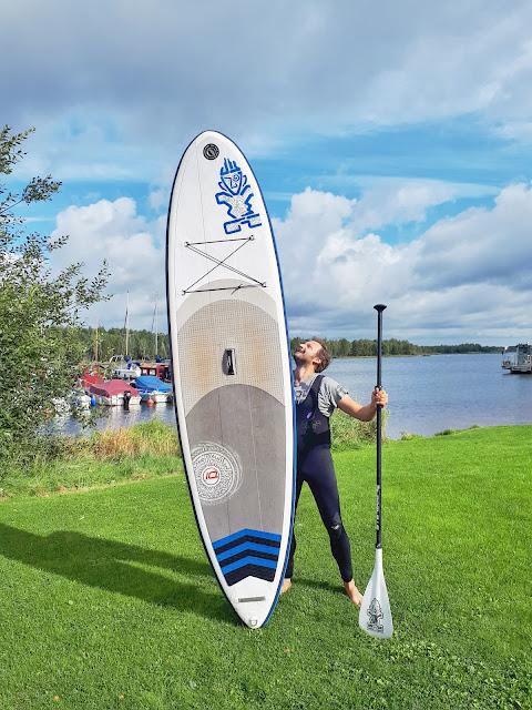 Lausitzer seenland aka Lusatian Lakeland Stand up Paddling at Hafencamp by Senftenberger See (Lake)