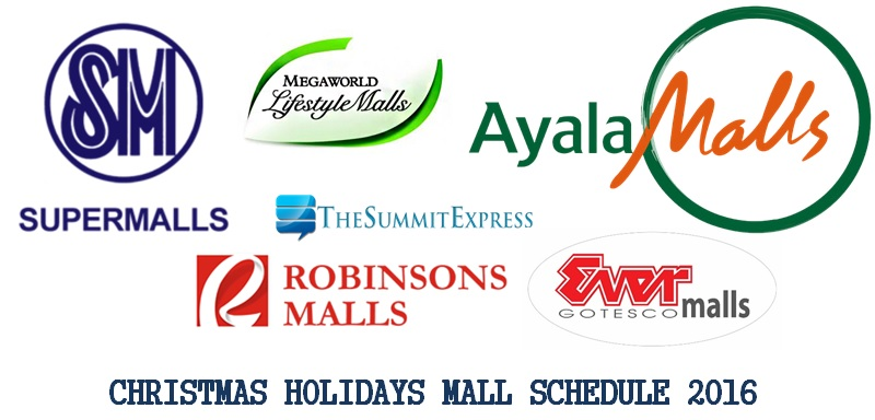 Mall Hours Schedule Christmas Holidays 2016, New Year released