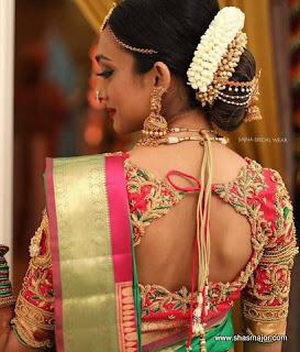blouse neck design for silk saree