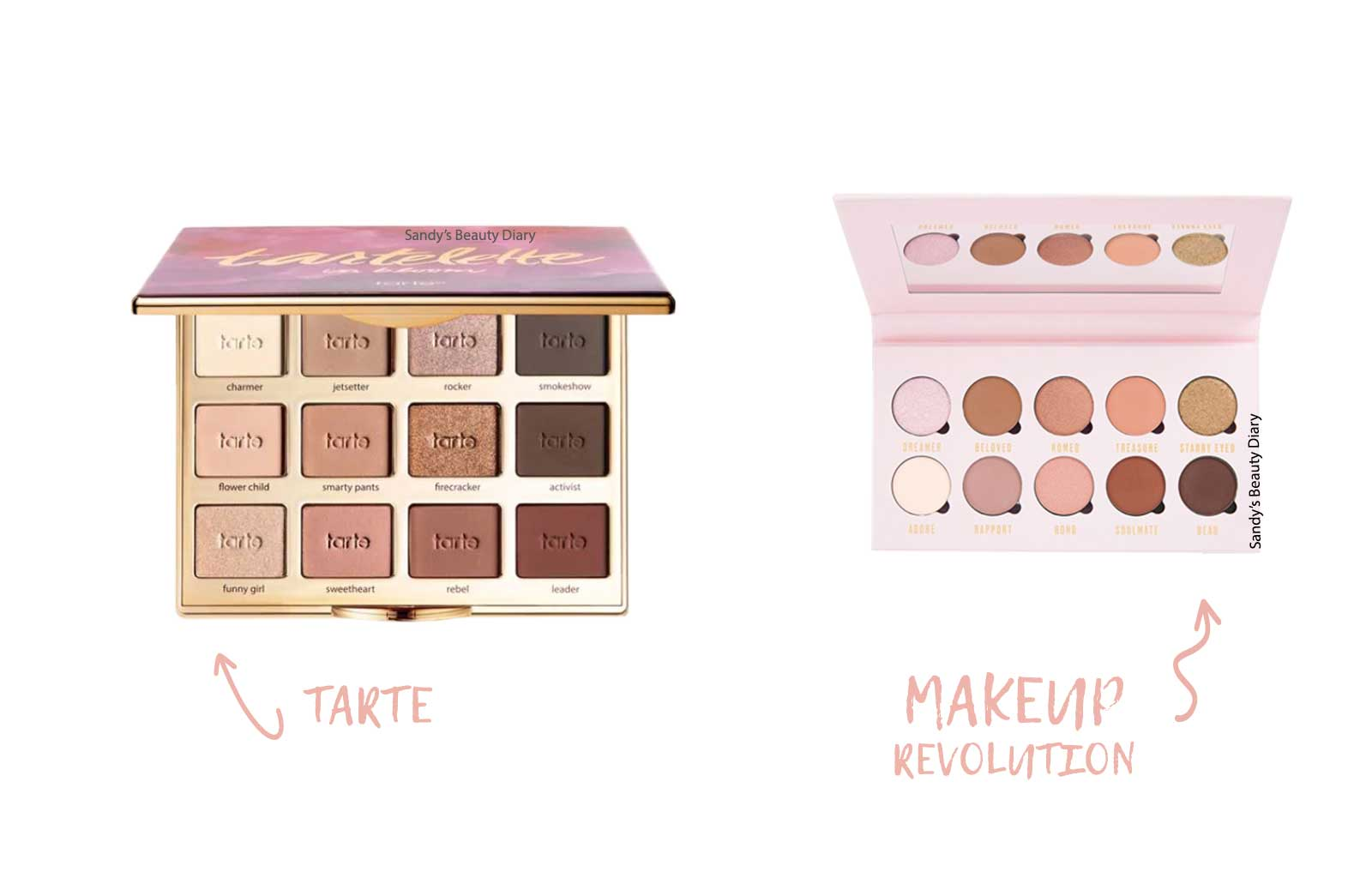 Dupes maquillage tarte tartelette in bloom