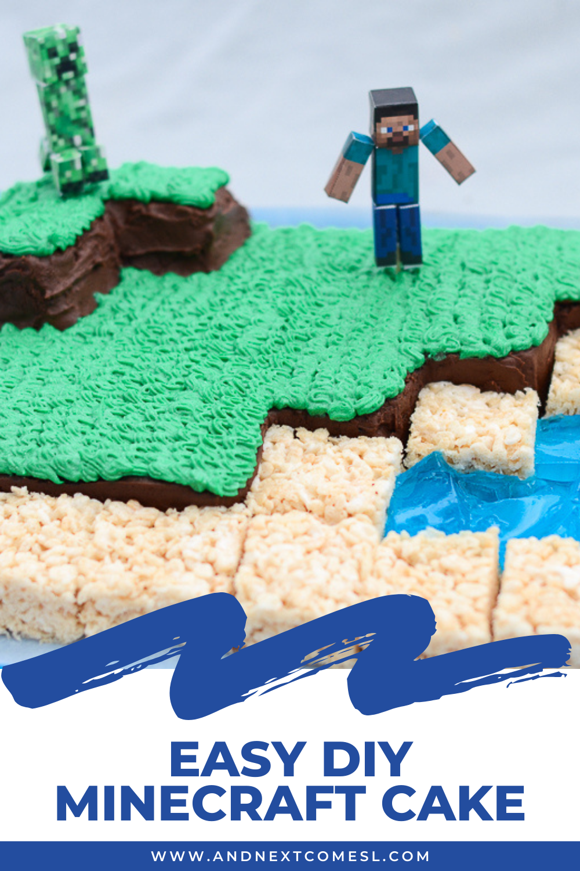 Easy DIY Minecraft cake tutorial: How to make a Minecraft birthday cake