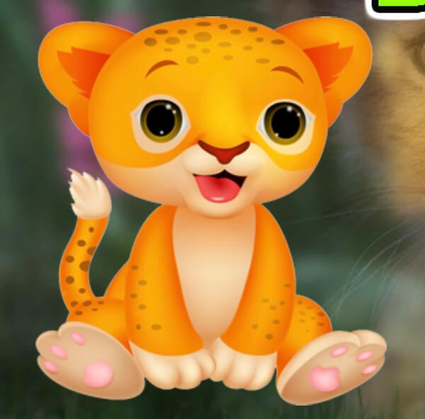 Games4King Charming Baby Lion Escape