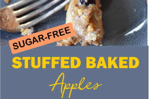 SUGAR-FREE STUFFED BAKED APPLES #sugarfree #apple #vegan
