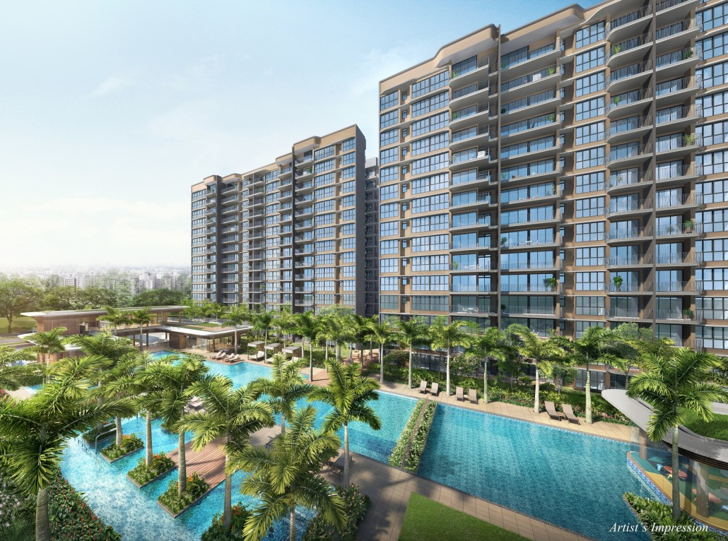 Hundred Palms Residences is a 531-unit, resort-style executive condominium (EC) located at Yio Chu Kang Road near to shopping center Hougang One at Hougang Avenue 9 (Buses 72, 109, 116, 159, 325, 329).