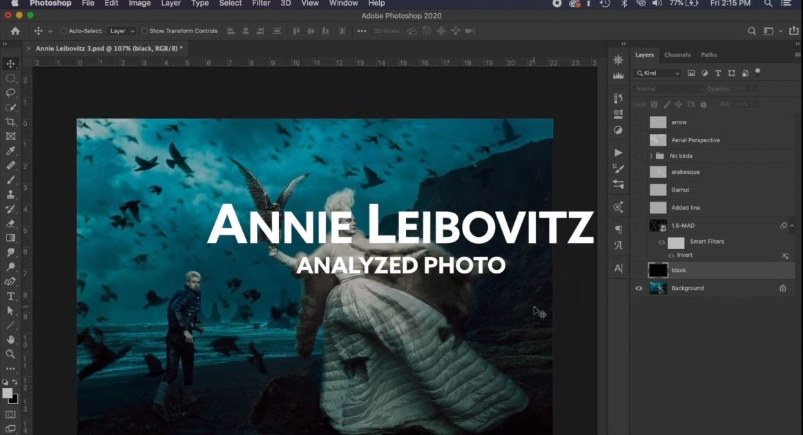 Annie Leibovitz ANALYZED PHOTO - Composition and Design Techniques (2020)