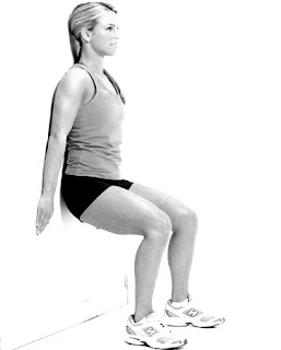 Wall seat exercise for cellulite