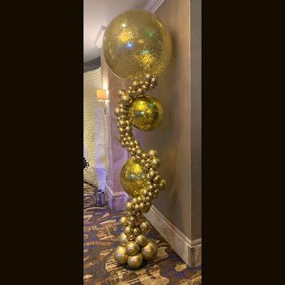Gold Balloon Sculpture by Sue Bowler