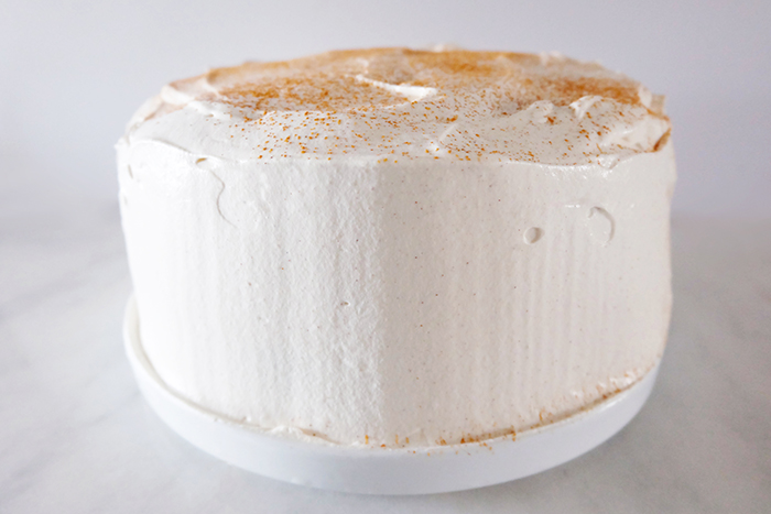 Mexican Chocolate Cake with Mascarpone Whipped Cream Frosting