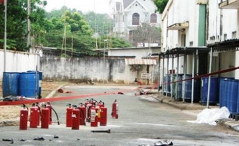 Hiện trường vụ nổ khiến một công nhân thiệt mạng - Ảnh: AQ