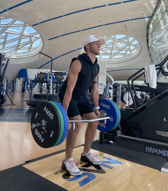Pierre Gasly's training. photo by pierregasly.com