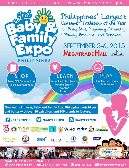 Save The Date: 3rd Baby & Family Expo Philippines To Launch On September 5, 2015