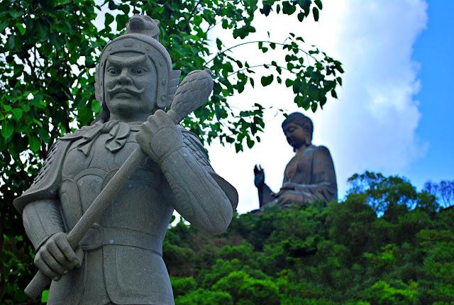 Statue guards at Tian Tan Buddha Hong Kong