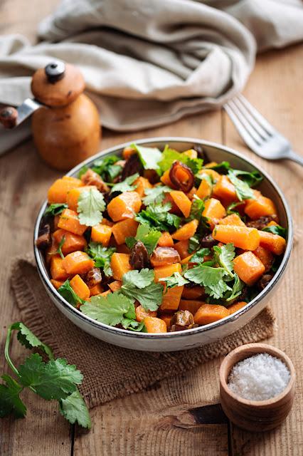 Salade de carottes, dattes et cumin
