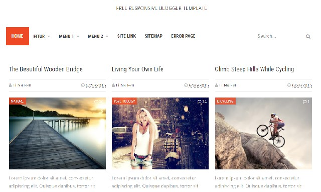 Free Responsive Blogger Template One Column