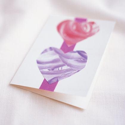 Paint-Swirl Hearts