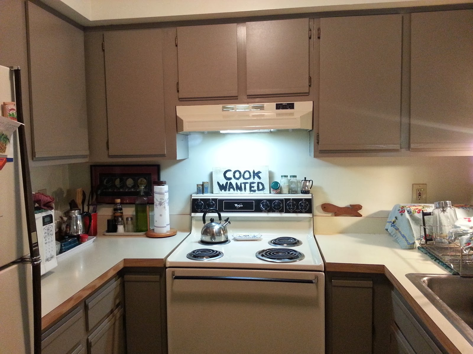 Laminate Kitchen Cabinets With Oak Trim Foobella Design Painting Laminate Kitchen Cabinets Done