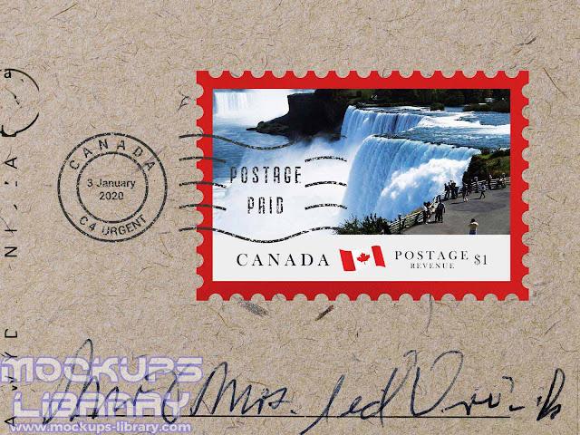postage stamp mockup free 2