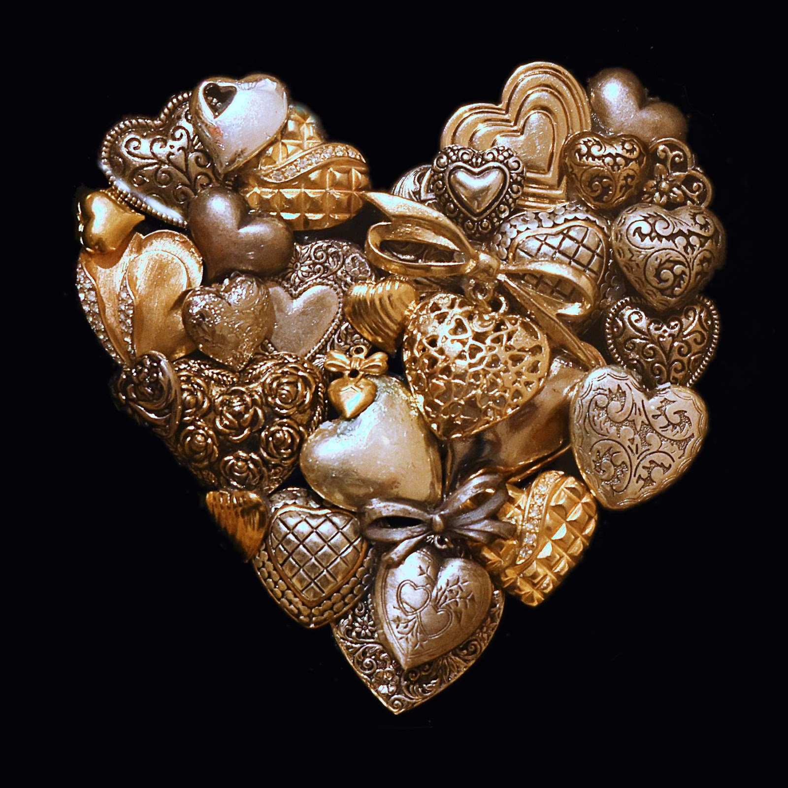 Silver and GOld Heart by Jeanne Selep