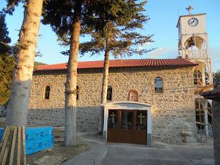 Ο ναός της Αγίας Παρασκευής ο στο Λαιμό Πρεσπών