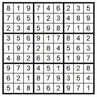 Answer Key Sudoku #38 Brain Training with Cats ©BionicBasil®