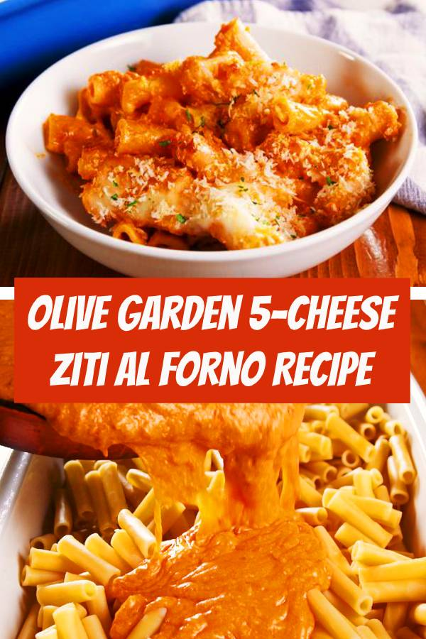 Cheese Ziti Al Forno is easy to make, breezy and cheesy. In case you missed it, copycat recipes are kind of our speciality. And this one tastes just like Olive Garden's 5-Cheese Ziti Al Forno...maybe better! Our advice: Buy a jar of marinara but make your own alfredo! #cheese #easymeals #ziti #dinner #easyrecipes #copycatrecipe