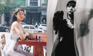 Sao Hàn 17/2: Seol Hyun mặc váy 2 dây gợi cảm, Tae Yeon khoe dáng đồng hồ cát