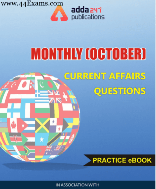 Adda247-Monthly-Current-Affairs-Questions-October-2019-For-All-Competitive-Exam-PDF-Book